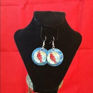 "Jewelry - Lotería earrings "" El Pescado """